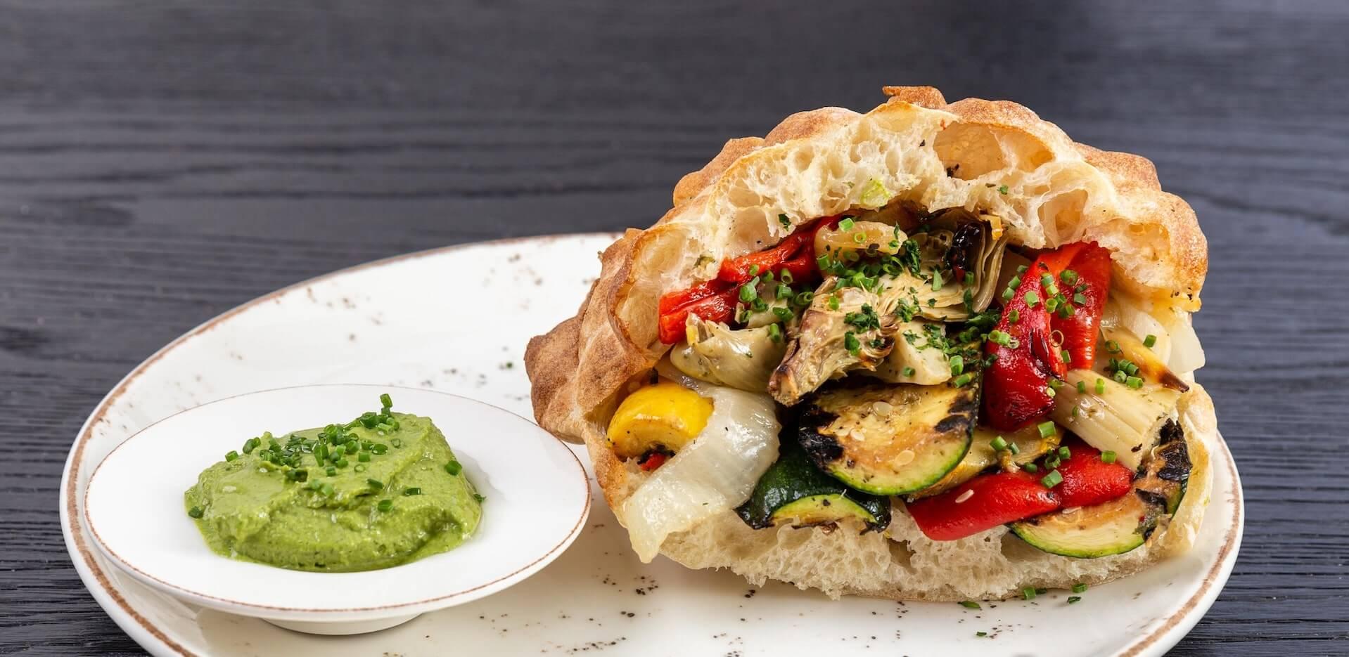 Fire Roasted Veggie Sandwich